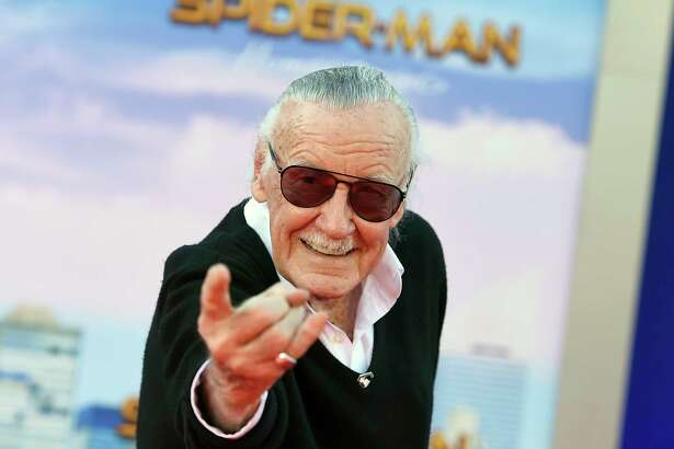 "FILE - In this June 28, 2017 file photo, Stan Lee arrives at the Los Angeles premiere of ""Spider-Man: Homecoming."" A small, private funeral has been held to mourn Marvel Comics mogul Stan Lee, and his company is making more plans to memorialize him. (Photo by Jordan Strauss/Invision/AP, File)"