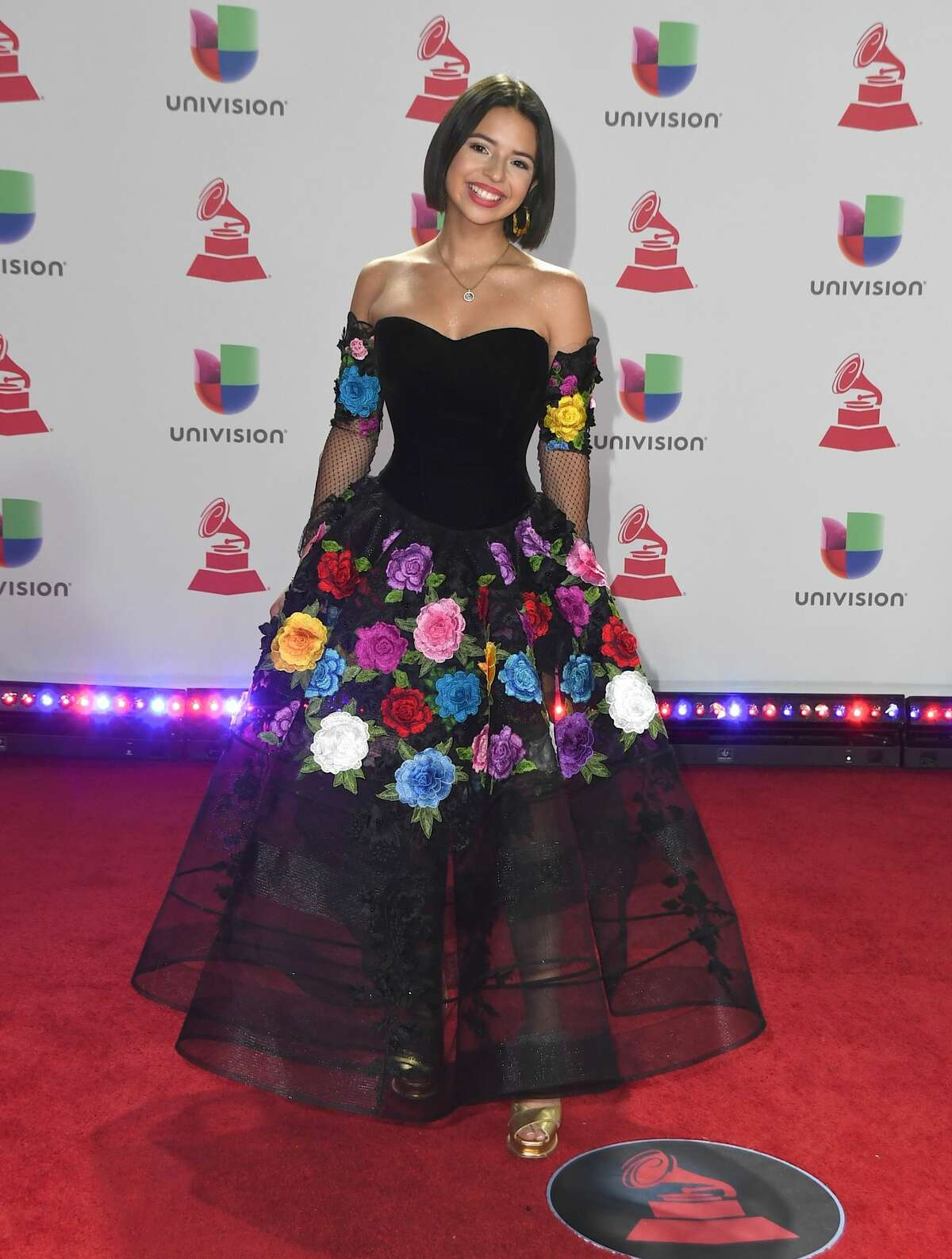 LAS VEGAS, NV - NOVEMBER 15: Angela Aguilar attends the 19th annual Latin GRAMMY Awards at MGM Grand Garden Arena on November 15, 2018 in Las Vegas, Nevada. (Photo by Mindy Small/FilmMagic)