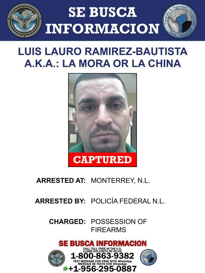 Luis Lauro Ramirez-Bautista, a high-ranking Gulf Cartel member, was arrested Wednesday by Mexican authorities. Photo: Department Of Homeland Security