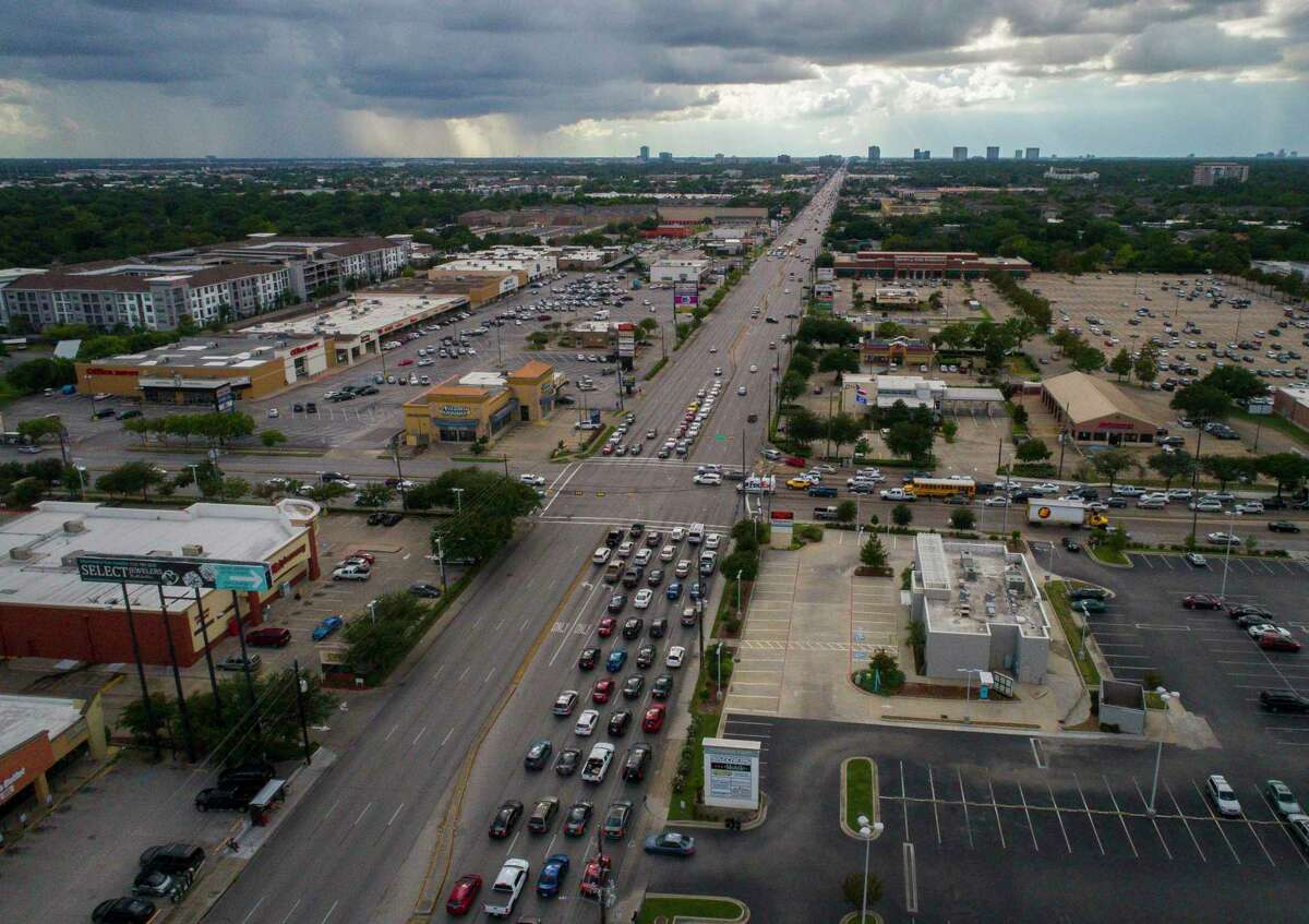 Westheimer Road, seen from above Voss Road and Hillcroft Avenue on Sept. 20, 2018, will be repaved faster under a plan to take advantage of low traffic volumes and work 24 hours a day, seven days a week starting April 2.