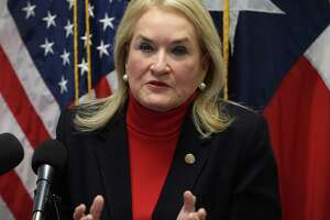 State Sen. Sylvia Garcia holds a press conference to announce her resignation from the Texas Senate Friday, Nov. 9, 2018, in Houston. Garcia was elected to Congress Tuesday to fill Rep. Gene Green's seat.