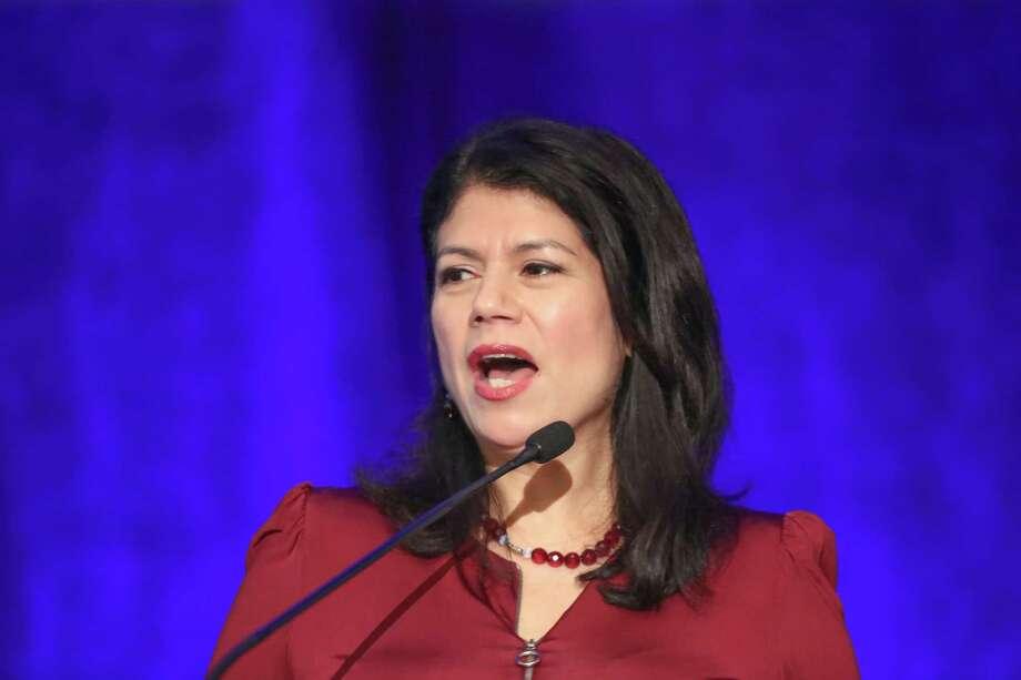 Representative Carol Alvarado talks during the 55th Latino Leaders Luncheon series Friday, Sept. 21, 2018, in Houston. Photo: Steve Gonzales, Houston Chronicle / Staff Photographer / © 2018 Houston Chronicle