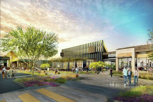 A rendering of M-K-T, a 200,000-square-foot retail and office development planned along North Shepherd in the Heights.