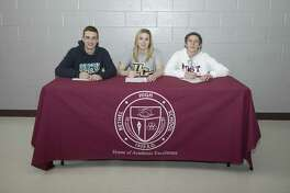Three Bethel High students signed national letters of intent earlier this week: Tim Joyce (UNC-Wilmington, swimming), Gabby Kahn (University of Central Florida, crew) and Nick Meier (Post, lacrosse).