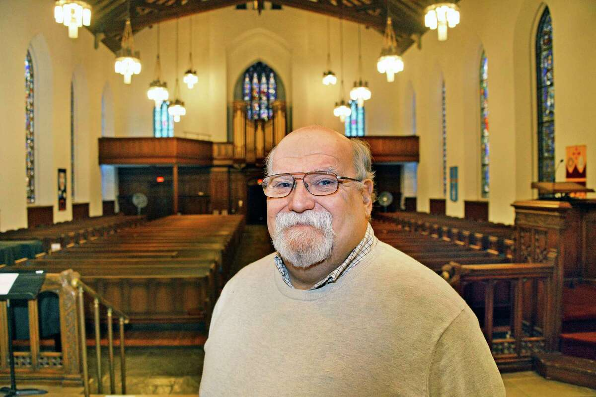 Rev. William Schram in the sanctuary of Westminster Presbyterian Church Thursday Nov. 15, 2018 in Albany, NY. (John Carl D'Annibale/Times Union)