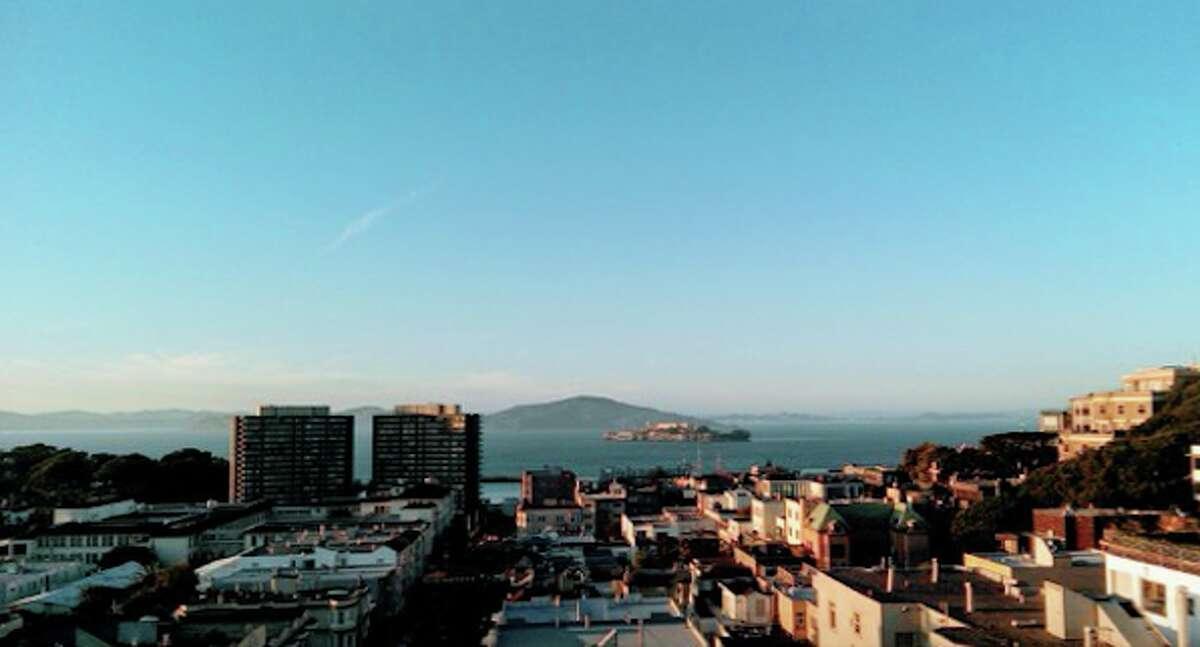 BEFORE: Alcatraz from Russian Hill.