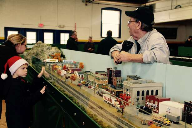 Train lovers of all ages visit the annual model train show and non-perishable food drive at the Torrington Armory at 153 South Main St. in 2017. The show returns to the armory Dec. 1-2,