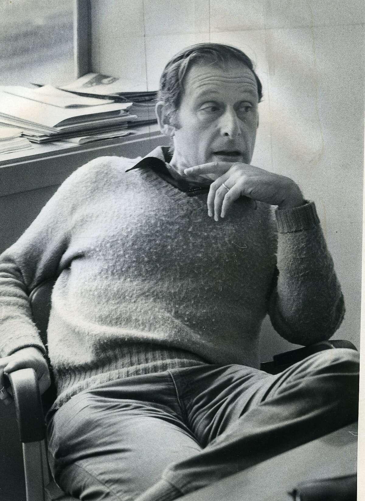 Eric Solomon, Professor of English at San Francisco State February 27, 1975 Photo ran 2/27/1975, p. 2