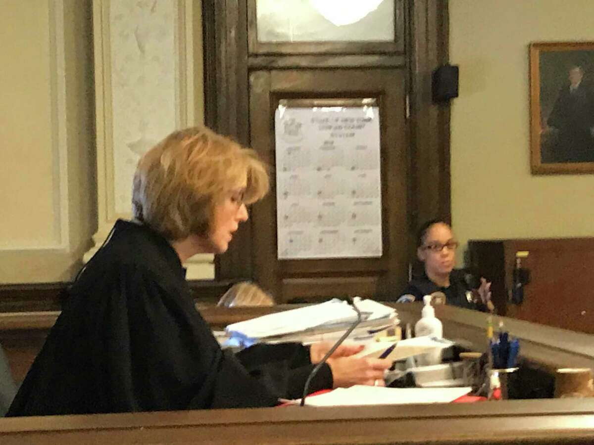 Rensselaer County Court Judge Debra Young sternly warned defendant William A Cavanaugh Sr.in court in Troy, N.Y. Friday Nov. 16, 2018 that he could face prison time if he was arrested or failed to meet with probation before his Jan. 11, 2019 sentencing date..