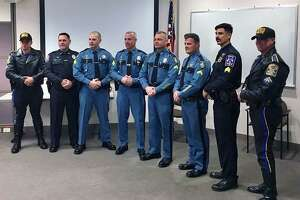 Six law enforcement officers graduated from the Connecticut State Police motorcycle training class on Friday, Nov 16, 2018. Those six were made up of four state troopers from Maine, one Westport officer and one West Hartford officer.