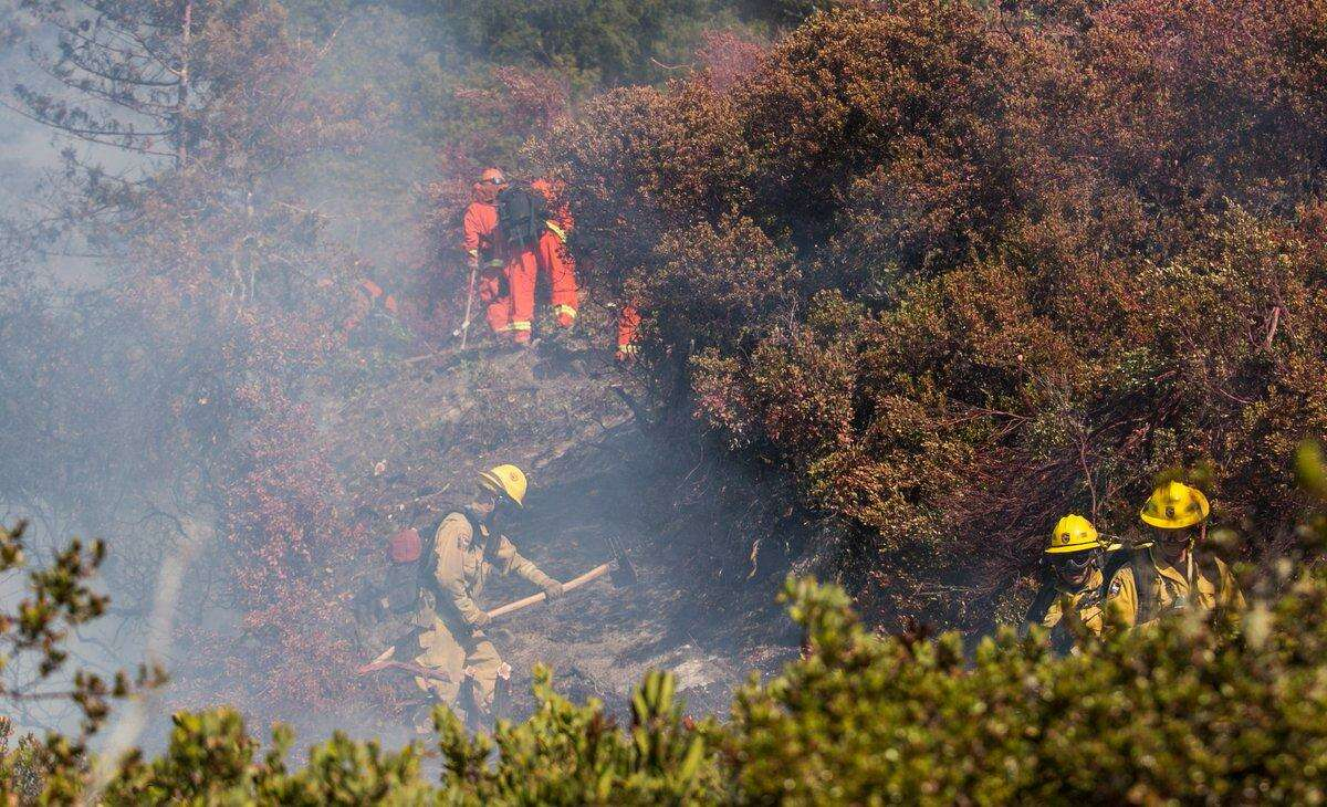 By 3:00 pm on Friday, the blaze had been beaten back eight to 10 acres with 50 percent containment.