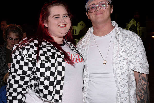 Hollie Coffin and Gabe Wood were at the TobyMac and DiverseCity concert at the Jefferson Theatre Friday. The Grammy award winning Christian music performer made the Beaumont stop part of his 12-city tour, which is being hosted by Food for the Hungry. Photo taken Friday, November 16, 2018 Kim Brent/The Enterprise