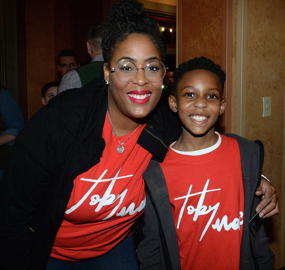 Amy and Cayden Mitchell were at the TobyMac and DiverseCity concert at the Jefferson Theatre Friday. The Grammy award winning Christian music performer made the Beaumont stop part of his 12-city tour, which is being hosted by Food for the Hungry.  Photo taken Friday, November 16, 2018 Kim Brent/The Enterprise Photo: Kim Brent/The Enterprise