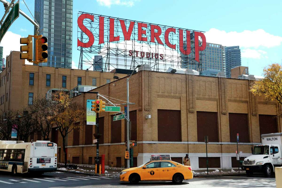 Traffic passes Silvercup Studios, a film and television production facility, located in Long Island City near the site for a proposed Amazon headquarters in the Queens borough of New York, Friday, Nov. 16, 2018. While some residents are optimistic about Amazon moving into their neighborhood, others have doubts about whether they will be able to get any of the thousands of jobs the company is promising to bring to the area.