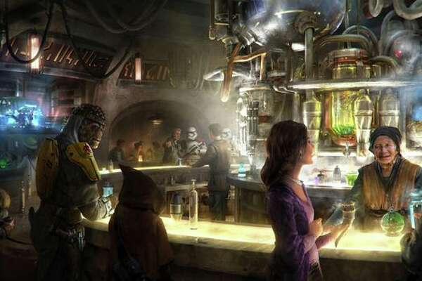 Oga's Cantina will be a place to unwind, grab a space cocktail, and conduct shady business.