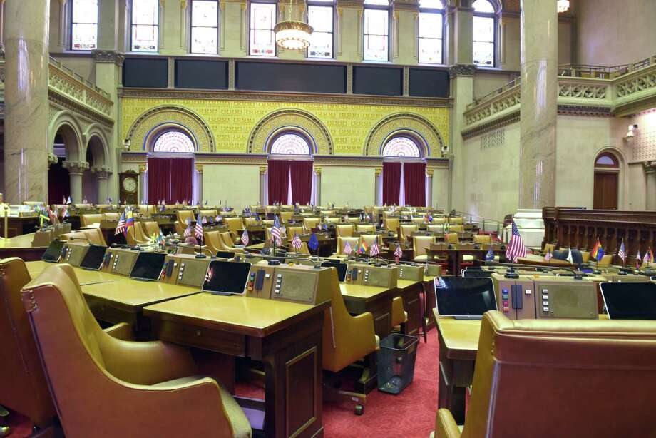 A view of the New York State Assembly chamber inside the Capitol on Tuesday, Oct. 4, 2016, in Albany, N.Y.   (Paul Buckowski / Times Union) Photo: PAUL BUCKOWSKI / 40038264A