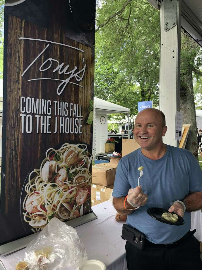Tony Capasso of Tony's at the JHouse serving up some of his Italian specialties at the Greenwich Wine + Food Festival in September. Photo: Contributed