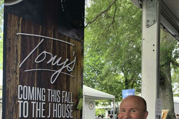 Tony Capasso of Tony's at the JHouse serving up some of his Italian specialties at the Greenwich Wine + Food Festival in September.