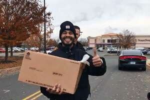 Bridgeport, Conn., police handed out turkeys instead of tickets on Nov. 15, 2018.