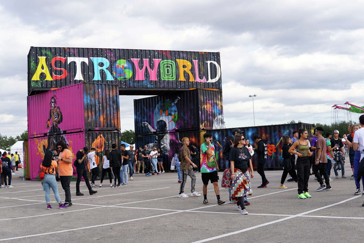 Rap superstar Travis Scott hosted the inaugural Astroworld Festival at NRG Park on November 17th, 2018. (Photo by Marco Torres/Freelance)
