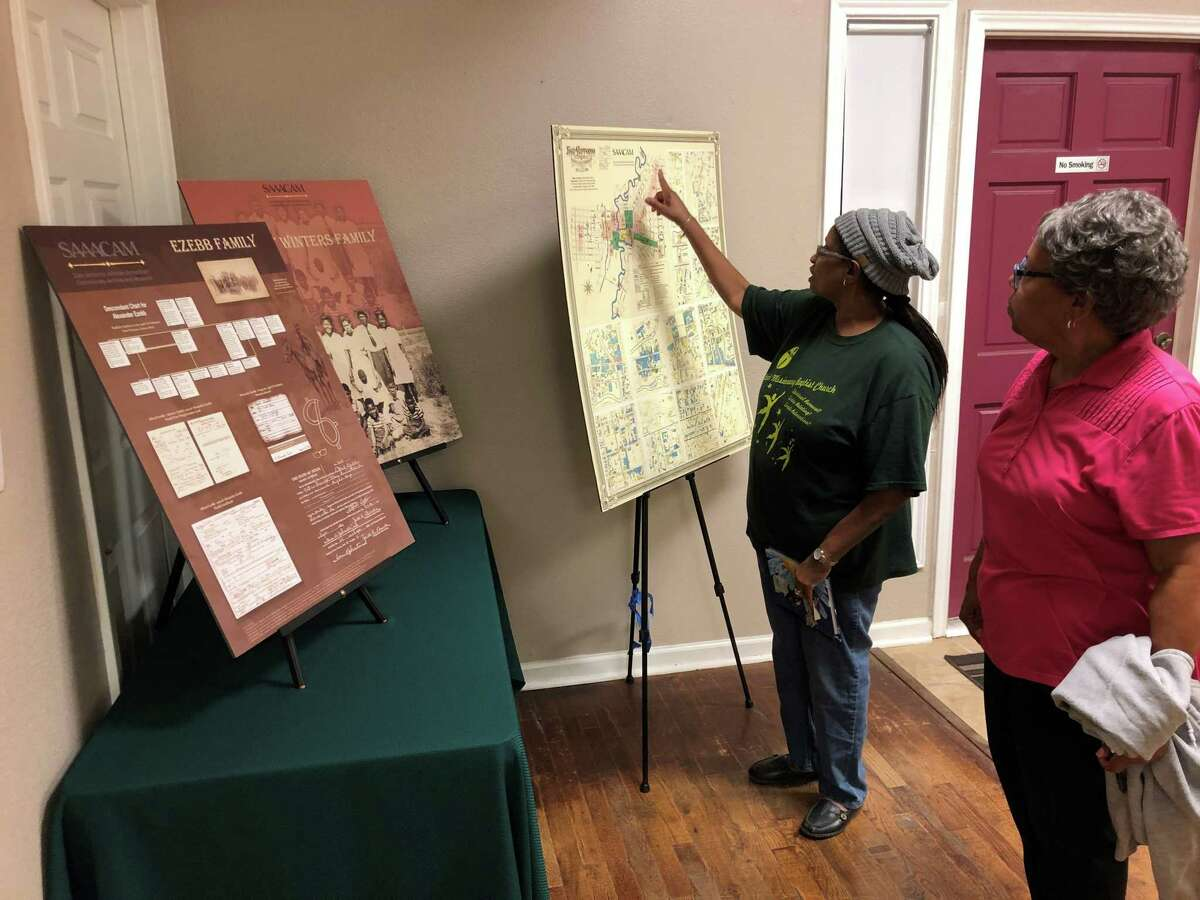 Susan Glosson and Charla Hutchens volunteer with the San Antonio African American Community Archive and Museum, which preserves African-American history.