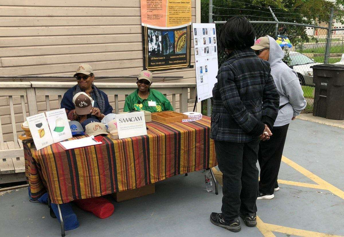 Charla Hutchens and Susan Glosson volunteer with the San Antonio African American Community Archive and Museum at the historic of home of early African-American leaders Lillian V. and Samuel J. Sutton,