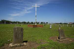 The Old Imperial Farm cemetery, where bodies of workers believed to have been part of a convict leasing system in Sugar Land. Fort Bend ISD and the Texas Historical Commission have identified a historic cemetery on the site of a new technical center under construction near the area.