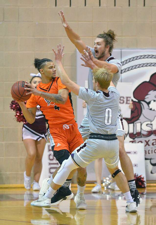 The Dustdevils defense excelled Saturday but the offense couldn't do enough falling 53-50 at home to Texas of the Permian Basin. Brent Finn (0) had a game-high 16 points. Photo: Cuate Santos /Laredo Morning Times / Laredo Morning Times