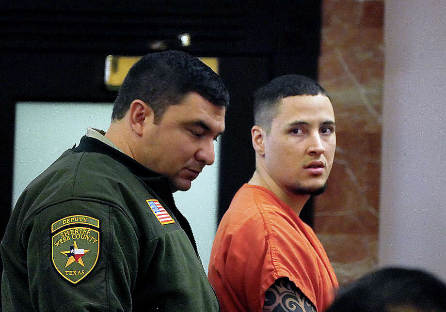 Ronald Anthony Burgos-Aviles exits the 49th District Courtroom Friday, November 16, 2018 where a hearing before Judge Joe Lopez regarding evidence exchange between the prosecution and defense. Photo: Cuate Santos/Laredo Morning Times