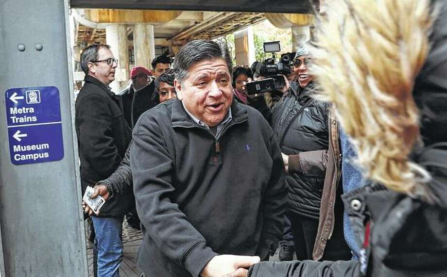 Governor-elect J.B. Pritzker makes one of his first public appearances to thank voters. Pritzker capitalized on Republican Gov. Bruce Rauner's unpopularity and disfavor with GOP President Donald Trump to be elected governor. Photo: Zbigniew Bzdak | Chicago Tribune (AP)