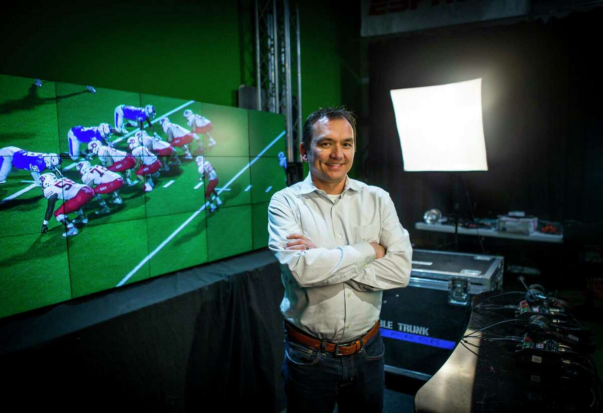 Sam Schrade, who owns DNA Studios LLC, a company which provides remote TV trucks for companies like ESPN and Fox for sports event coverage, stands inside his company's studio, Monday, Nov. 12, 2018 in Houston. CONTINUE to see the fastest free Wi-Fi spots nationally.