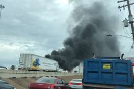 A truck fire on I-45 backed up traffic Sunday.