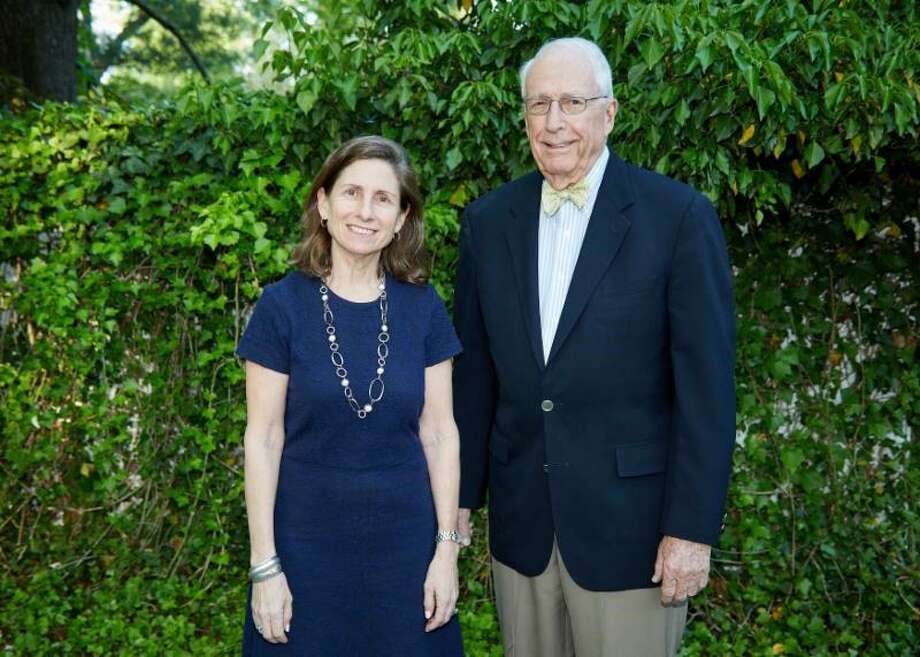 Haley Rockwell Elmlinger and Bruce Dixon are the new co-chairs of the Board of Trustess at the Greenwich Historical Society Photo: Contributed /