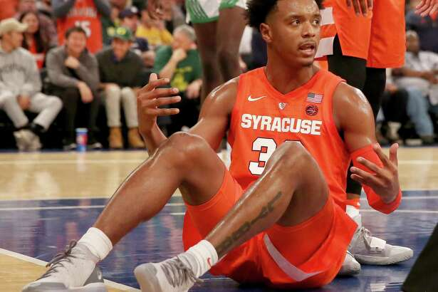 Following a pair of losses this week, Syracuse drops off of David Borges' weekly AP college basketball Top 25 ballot.