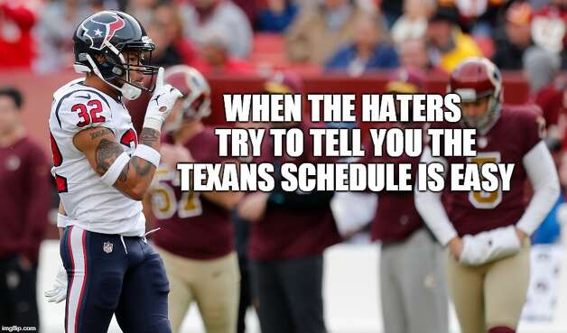 Houston Texans Week 11: Texans 23, Washington 21 The Texans held on to beat Washington for their seventh straight win. As it turns out, only two of those opponents finished the season with winning records. Photo: Matt Young