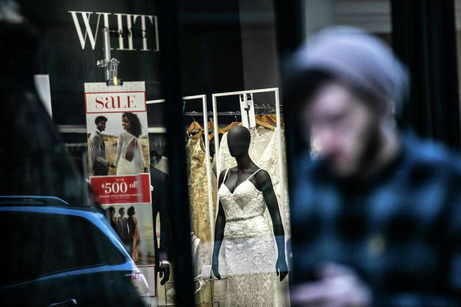 A David's Bridal store in New York City in November 2018. Photo: Jeenah Moon / Bloomberg / © 2018 Bloomberg Finance LP