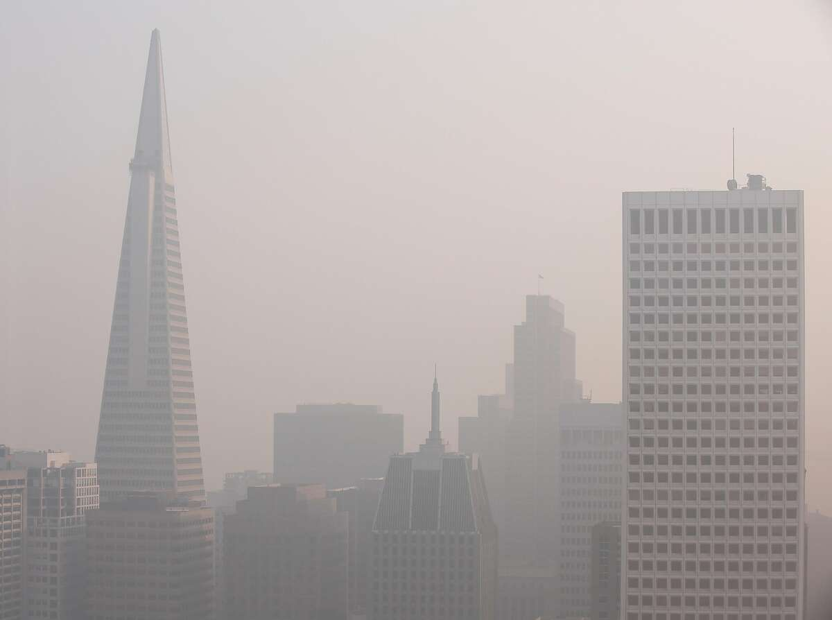 Poor air quality in San Francisco during the wildfires in 2018. The E.P.A. recently declined to strengthen standards for fine particulate matter ahead of what experts believe will be a bad fire season in California.