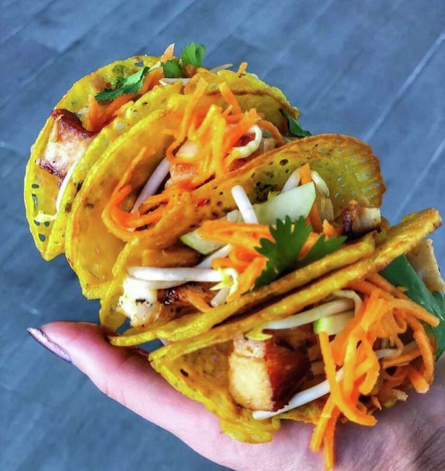 Saigon House in Midtown was judged Best in Show at the third annual Gr8 Taco Challenge at 8th Wonder Brewery. The restaurant mad a banh xeo taco. Photo: Saigon House Facebook