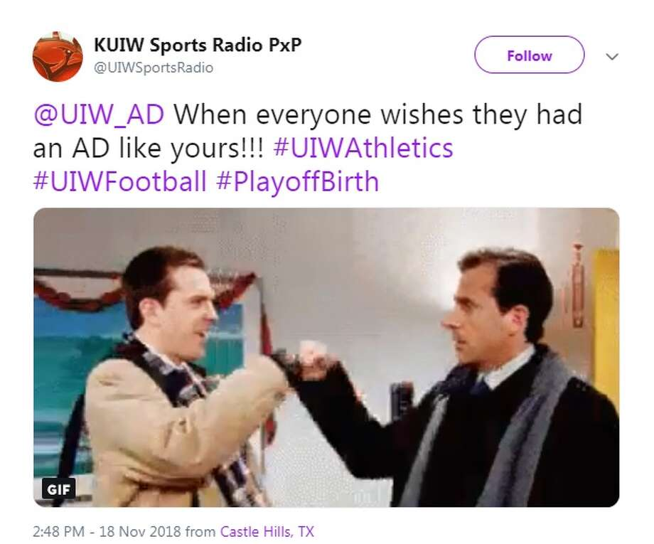 Reactions pour out on Twitter after UIW heads to the playoff for the first time in the program's history. Photo: Twitter/Screenshot