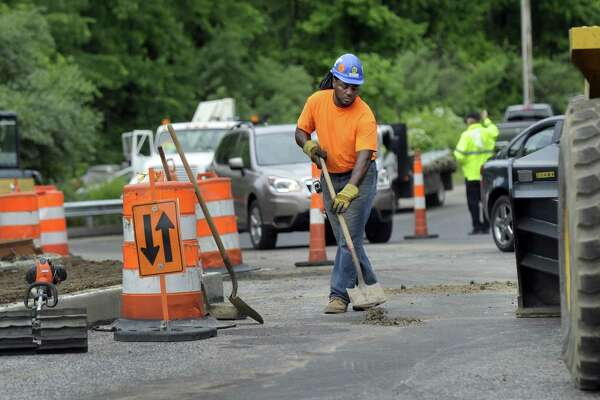 File photo of road work in New Milford.
