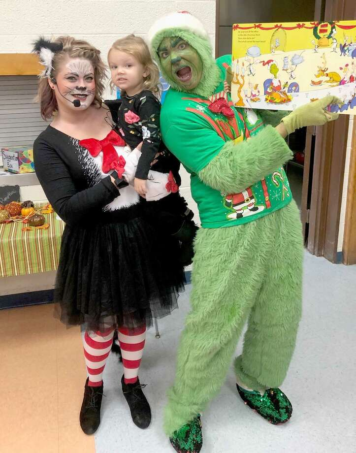 The Bad Axe Chamber of Commerce and Thumb Industries Inc. invited all little Who Boys and tiny Who Girls to a Meet the Grinch event Saturday at Bad Axe Middle School. The day also featured the annual Protectors vs. Directors basketball game. Photo: Submitted Photo