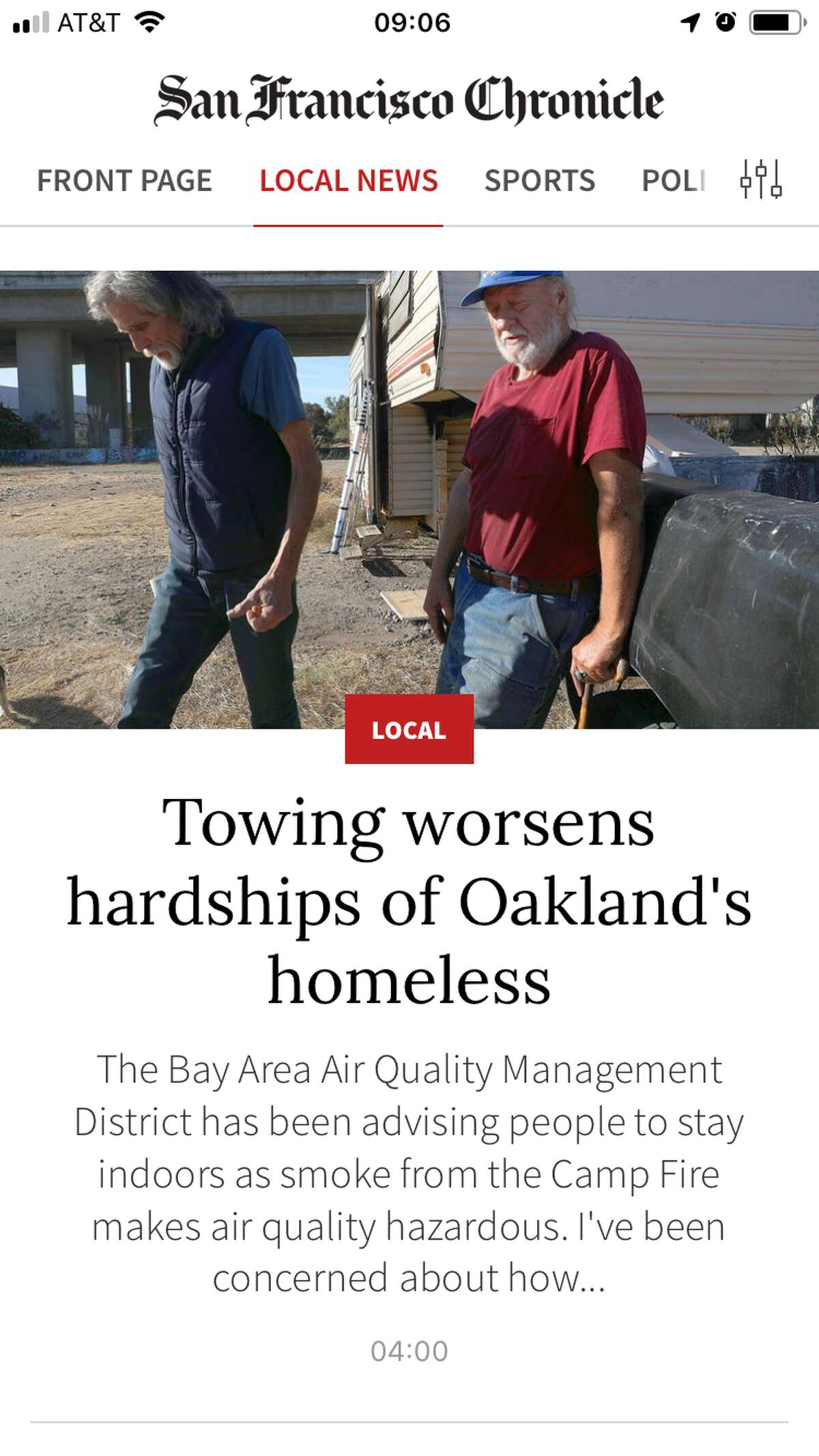 Local News covers the San Francisco Bay Area.