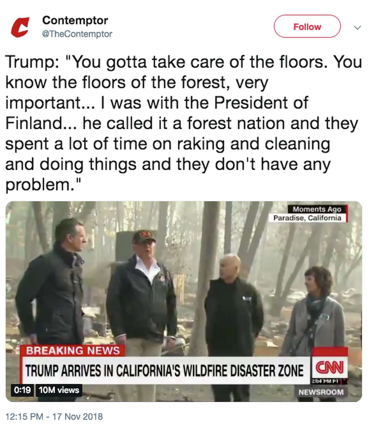 Folks in Finland are churning out memes in response to President Donald Trump saying the Fins practice good forest management by raking their forest floors.
