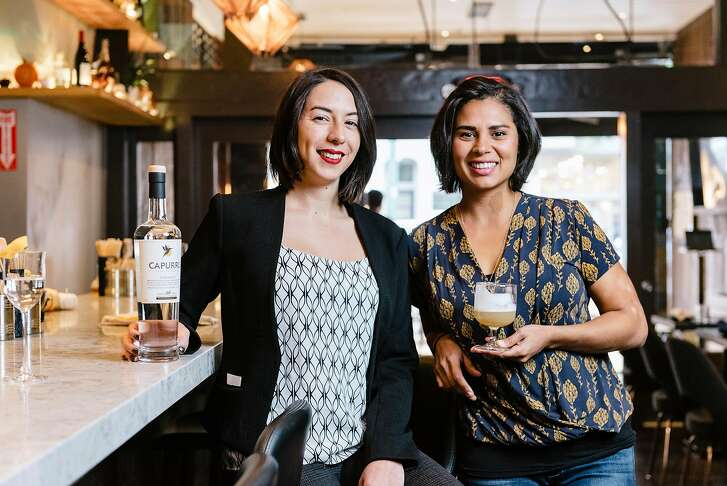 Bar manager Debora Fernandez, left, and consultant Helen Diaz pose for a portrait at Kaiyo restaurant in San Francisco, California, on Wednesday, November 14, 2018.