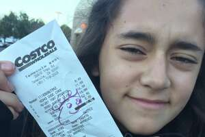 """Costco """"exit greeters"""" check receipts and items in shoppers baskets. If there's a kid in the cart, they sometimes draw a smiling face on the receipt."""
