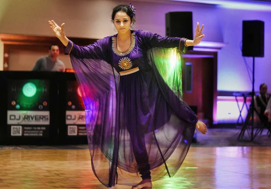 Upasanq Pal of Farmington Hills dances during an annual Diwali celebration hosted by the Indian Association of East Central Michigan on Saturday, Nov. 17, 2018 at the Great Hall Banquet and Convention Center in Midland. (Mary Lewandowski/for the Daily News) Photo: (Katy Kildee/kkildee@mdn.net)