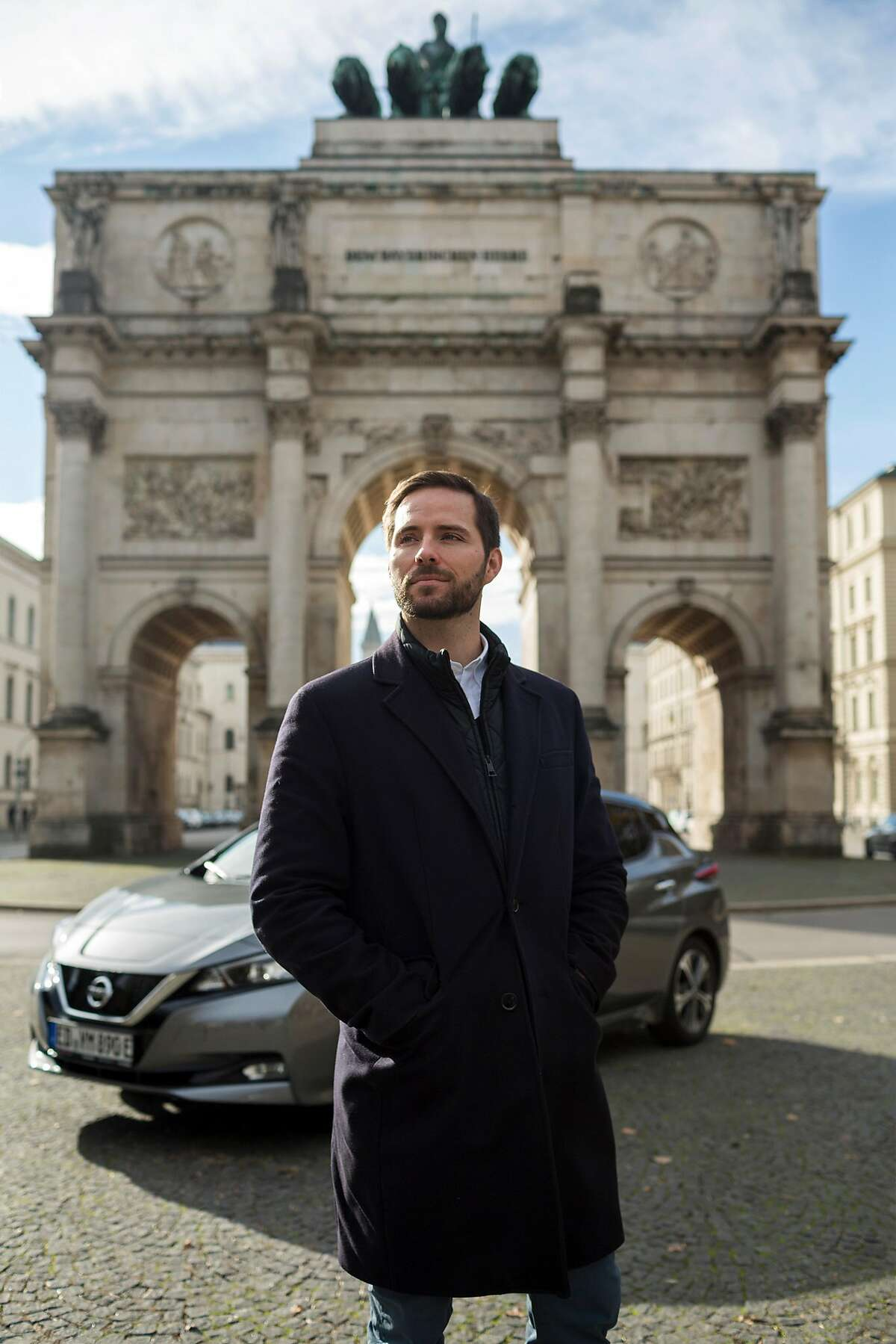 Christoph Weigler, Uber's general manager in Germany, in Munich, Germany, Nov. 5, 2018. Uber retreated from many towns in Germany in 2015 after battling regulators. Now the ride-hailing company has re-entered the city of D�sseldorf. (Louisa Marie Summer/The New York Times)