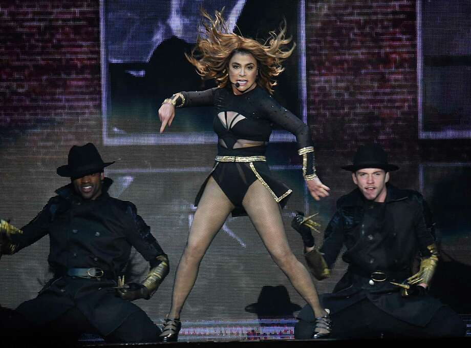 """Paula Abdul, seen here during her 2017 """"Total Package Tour"""" at Georgia's Infinite Energy Arena, will perform at the Wall Street Theater in Norwalk on Nov. 30. Photo: Chris McKay / Getty Images / 2017 Chris McKay"""