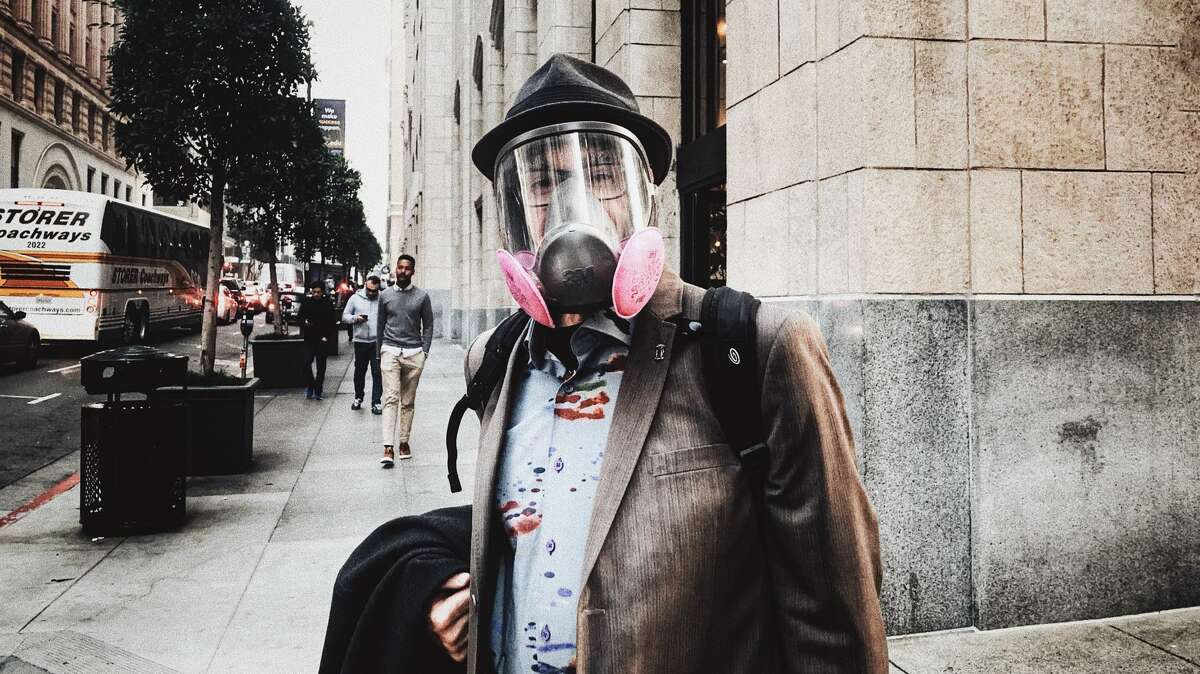 Photographer Pavel Fedorov was inspired to captured images of San Franciscans wearing protective air masks after taking a photo of a businessman in a full face respiratory mask. Last Friday and Saturday November 16th and 17th the air quality index in the city was among the worst in the world.