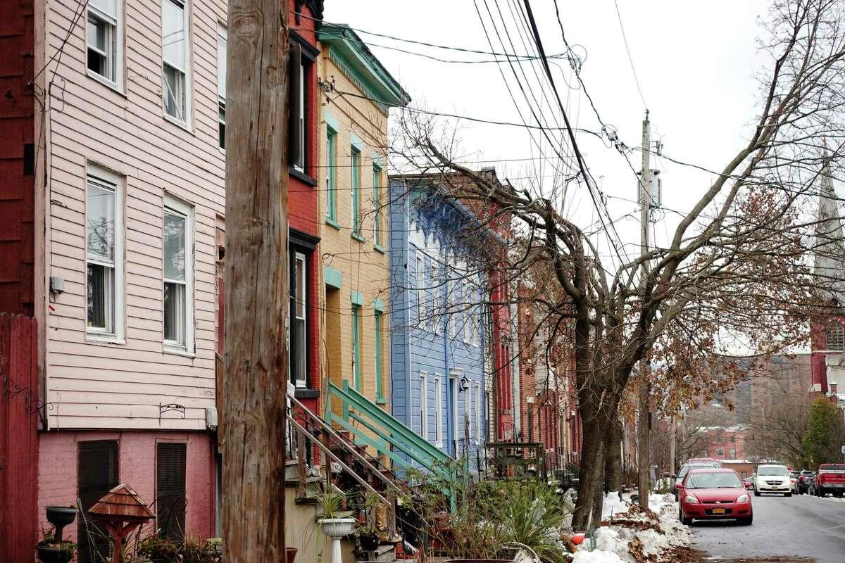 A view looking down Alexander Street on Monday, Nov. 19, 2018, in Albany, N.Y. (Paul Buckowski/Times Union)